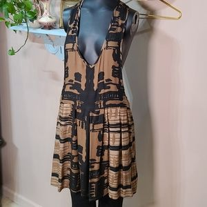 Flowy Romper Tank Dress Cover-up Tribal Layer